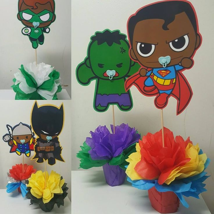 Beautiful Custom Made Unique For ANY Theme! Centerpieces That You Donu0027t See  In. Superhero Baby ShowerSuperhero Birthday PartyBaby Boy ...