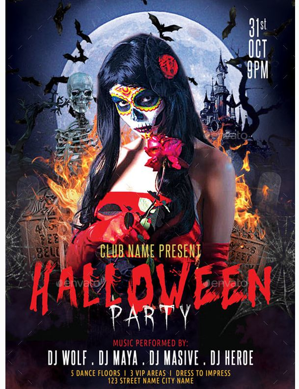 25 best Beautiful Halloween Flyer Templates images on Pinterest - zombie flyer template