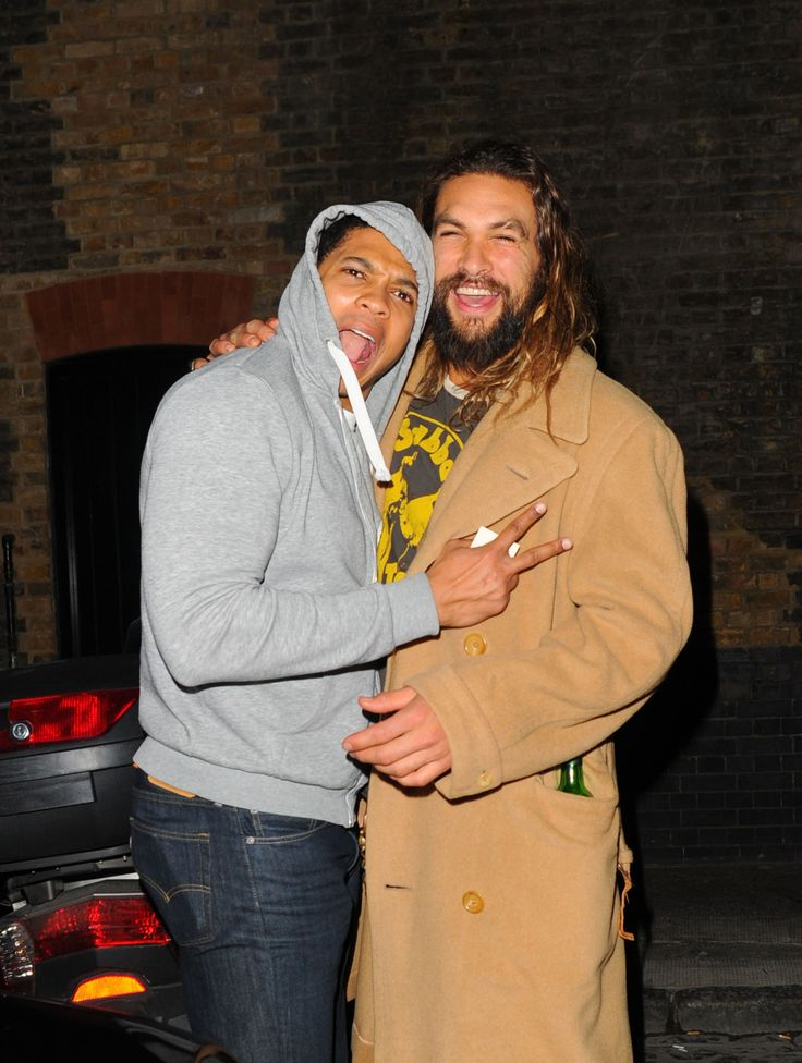 Jason Momoa: Hawaiian Jesus — celebritiesofcolor:   Ray Fisher and Jason Momoa...