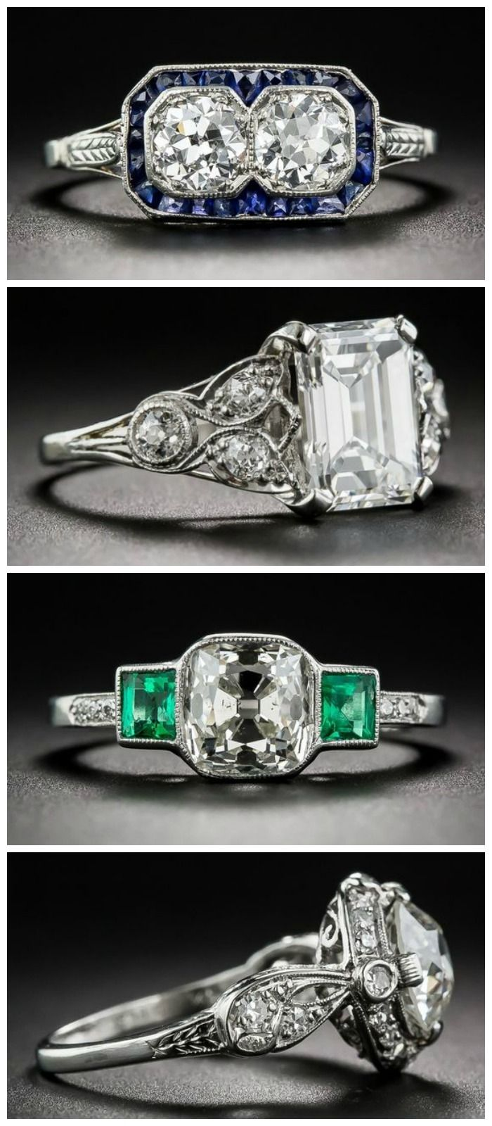 434 best images about Diamond rings vintage & antique on Pinterest