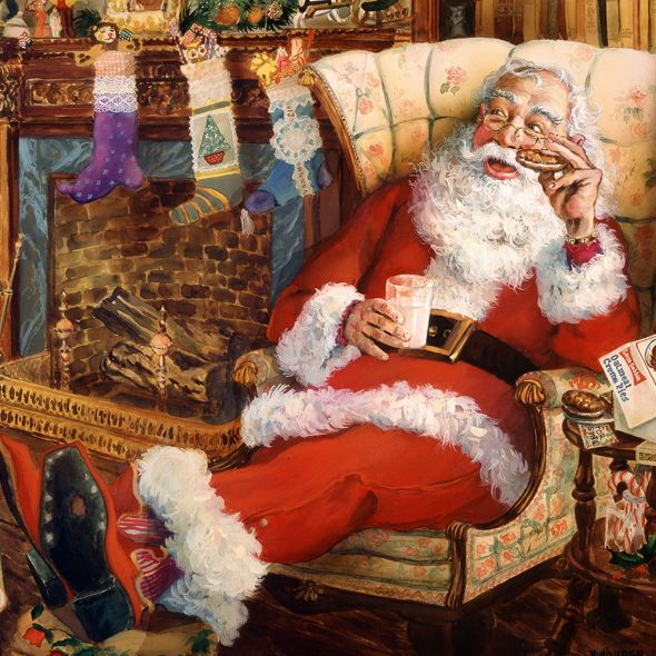 Robert Sauber-- I just love traditional santa pictures like this! Makes me think of Christmas with my grandma!