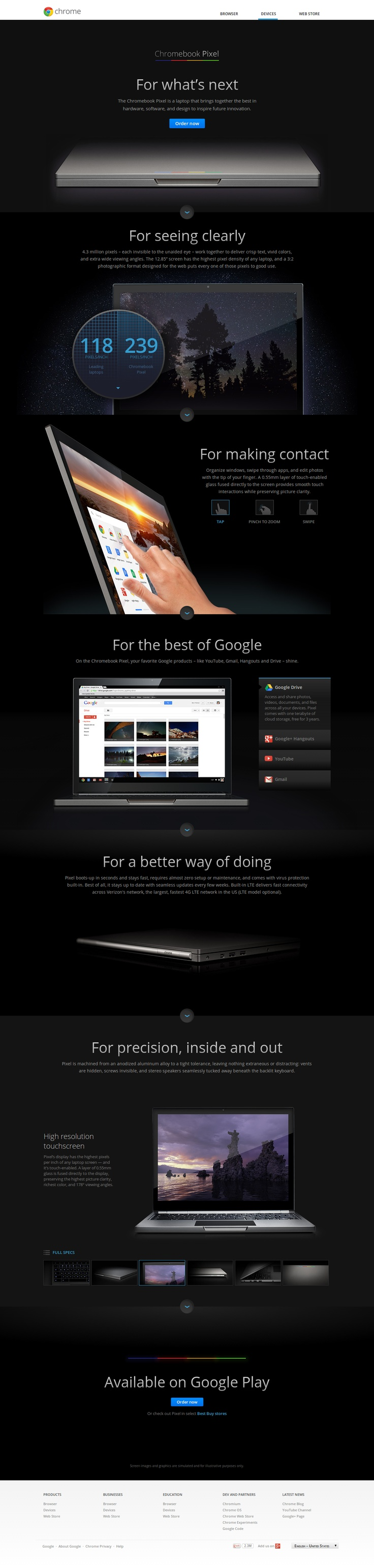WebDesign Chromebook Pixel