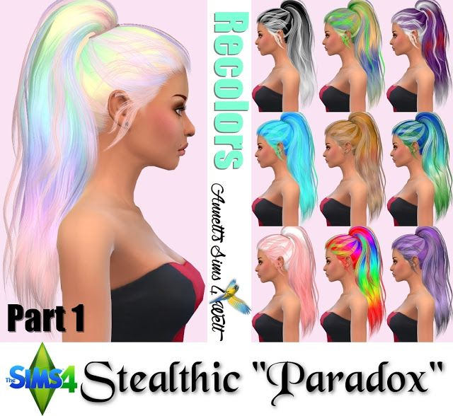 Sims 4 Updates: Annett's Sims 4 Welt - Hairstyles : Stealthic Hair Paradox Recolors, Custom Content Download!