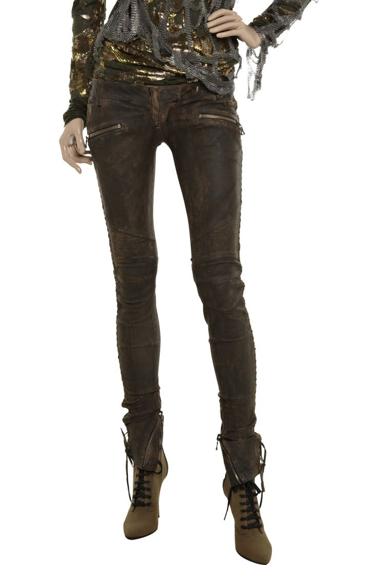 Excellent  Balmain Leather Trousers Kate Moss Wearing Balmain Leather Trousers