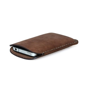 Makr - leather iPhone sleeve. Hand sewn, painted and polished.
