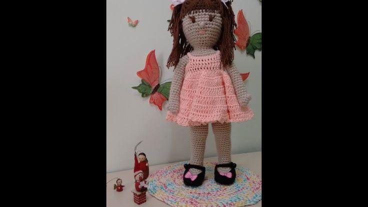 Como fazer Perna e Pé da Boneca de Crochê