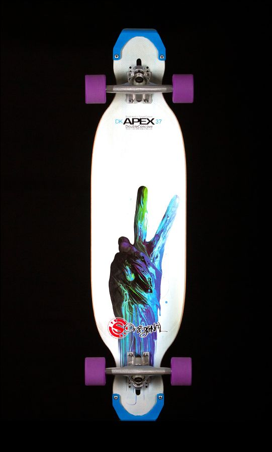 Apex 37 Double Concave by Original Skateboards. Versatile, Innovative, and Inspired. The mixing of longboard disciplines, downhill, freestyle, ramps, and freeride, influences every aspect the Apex 37 DoubleConcave longboard. Go Longboard