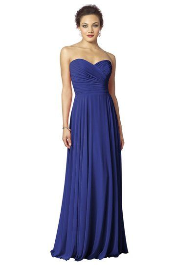 I love the long bridesmaid dress!