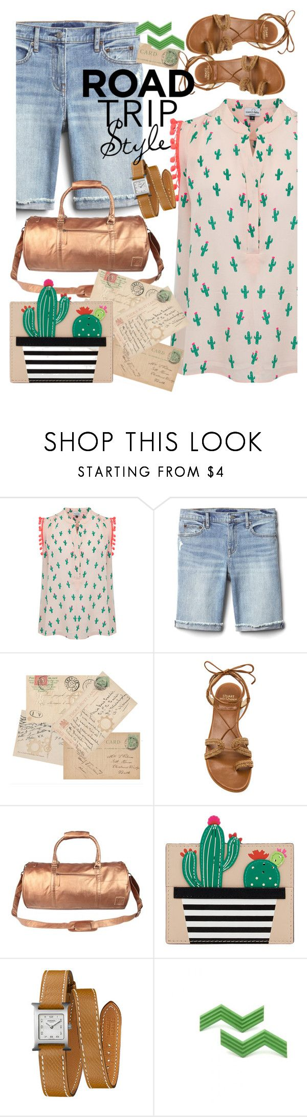"""""""Untitled #92"""" by caprice888 ❤ liked on Polyvore featuring Mercy Delta, Gap, Stuart Weitzman, Mahi, Kate Spade and Hermès"""