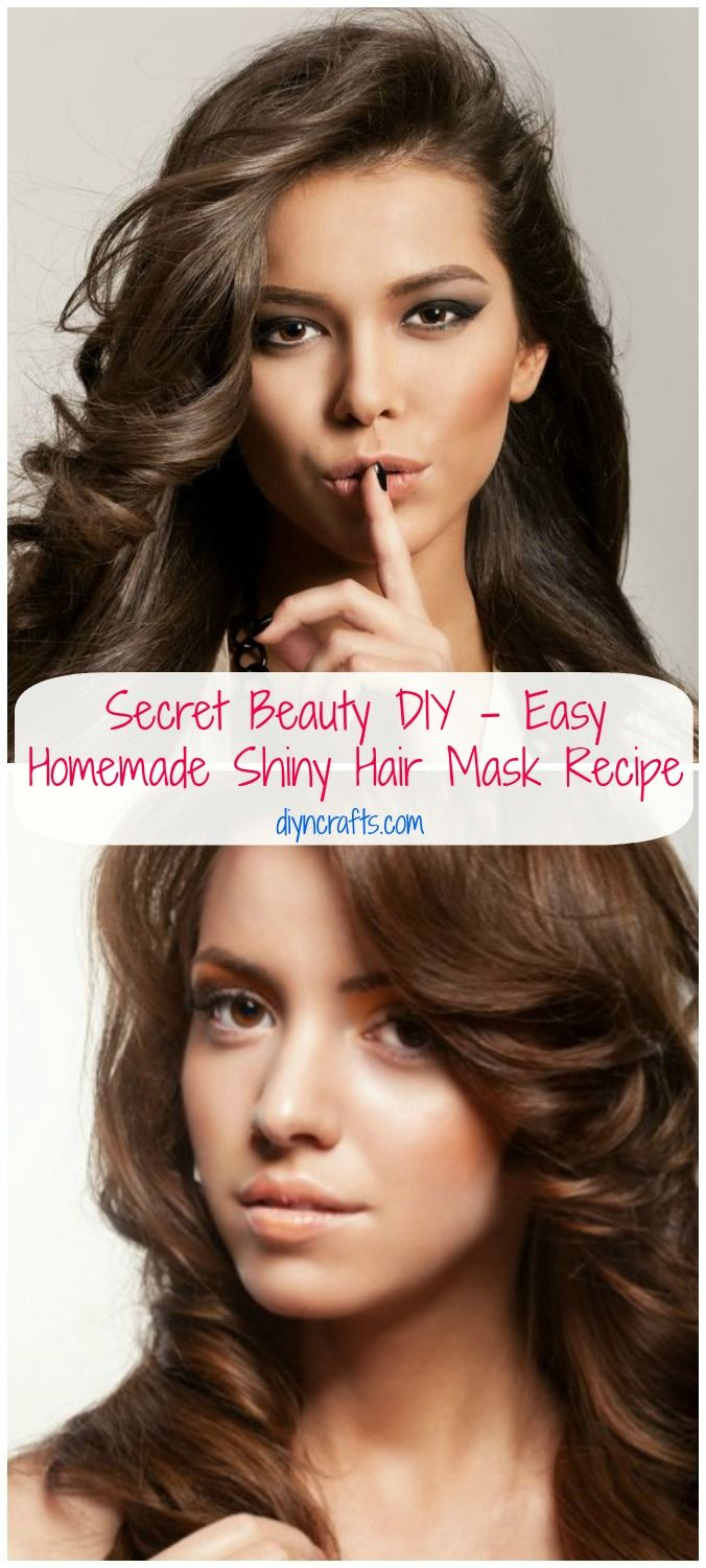 Secret Beauty DIY – Easy Homemade Shiny Hair Mask Recipe