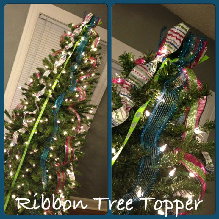 Martha Stewart Christmas Tree Topper: RibbonTree Topper Made By Me And Inspired By Http