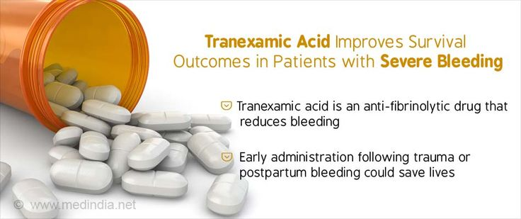 Immediate Treatment With Tranexamic Acid Improves Survival Outcomes in Bleeding Patients
