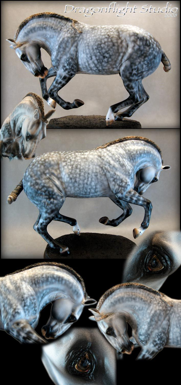 LCN Adagio (Alvaro sculpted by Michelle Platt, painted by Kathy McKenzie) andalusian stallion
