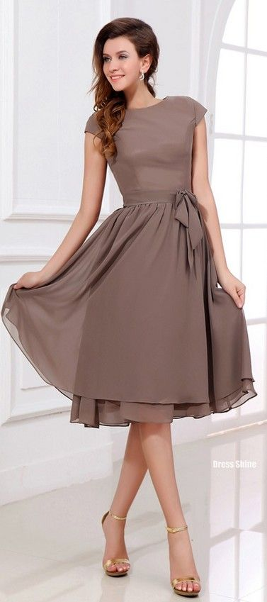 pretty dress style...would look cute in a butter yellow, or navy color too!