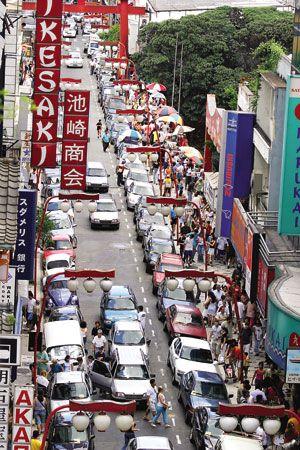 Bairro da Liberdade, em Sao Paulo, SP, Brasil. Este e o bairro onde se concentram as colonias japonesa, chinesa e coreana, na cidade.