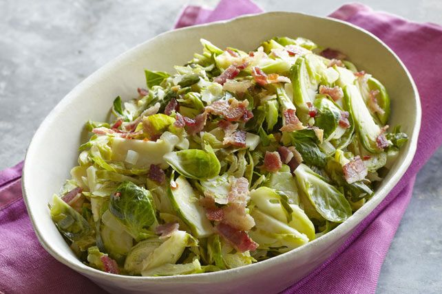 Pan-Fried Brussels Sprouts with Bacon