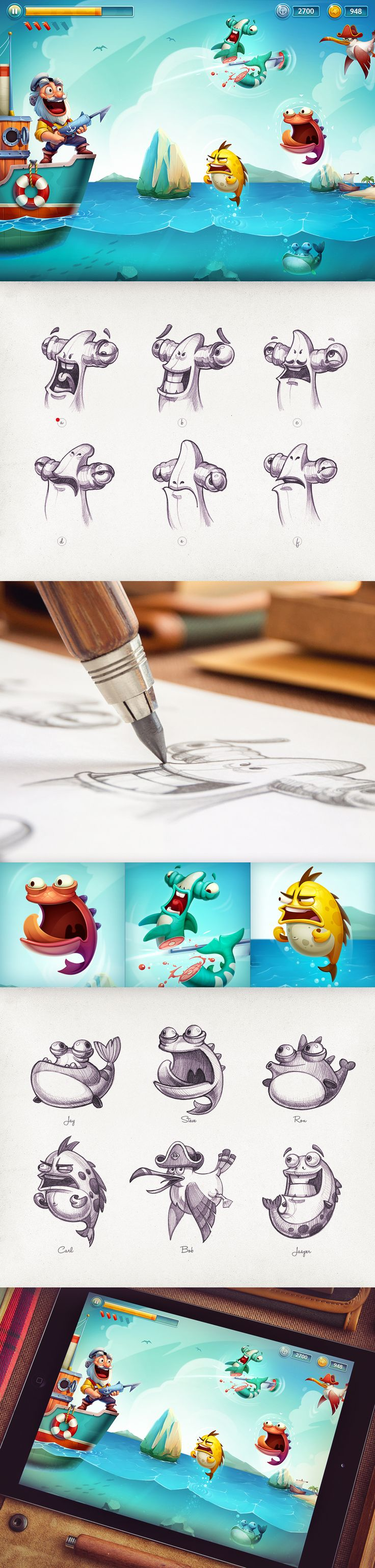 Ios game character design