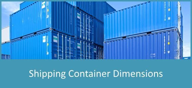 Shipping Container Dimensions And Sizes Of All The Popular Types Plus Measurements Of Th Shipping Container Dimensions Container Dimensions Shipping Container