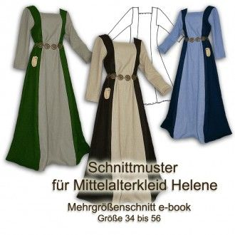 Schnittmuster Mittelalter Gewand Helene e-book