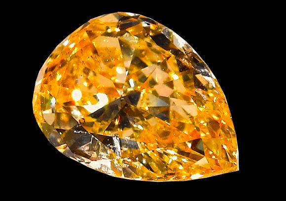 Orange Diamond. It is so rare for an orange diamond receive a color grading of pure orange, that many collectors have never seen one.