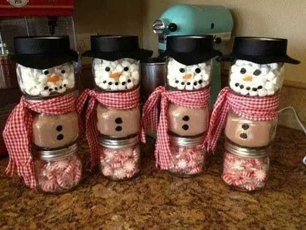 Hot Cocoa Snowman Jars Please Follow Us @ http://diygods.com/ #diy #crafting #xmas