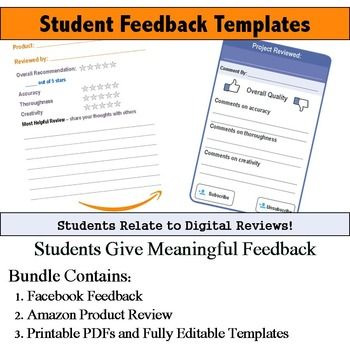 77 best Feedback images on Pinterest Classroom ideas, Teaching - feedback templates