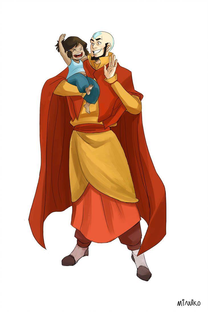Aang Korra commission for ayumiruki - aang and korraminuiko | korra