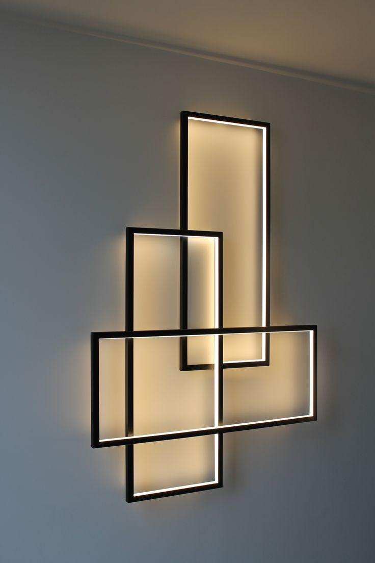Simple frames with rope light around the inner edges. #lightingdesign