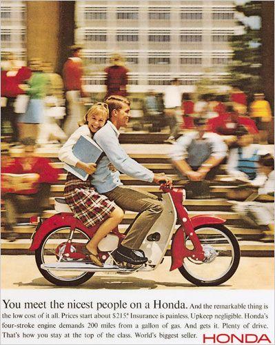 Vintage Honda C70 Super Cub Motorcycle Ad...
