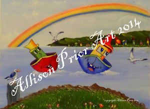 Childrens art for sale..beautiful artwork prints for your childs room.. fun and colorful..