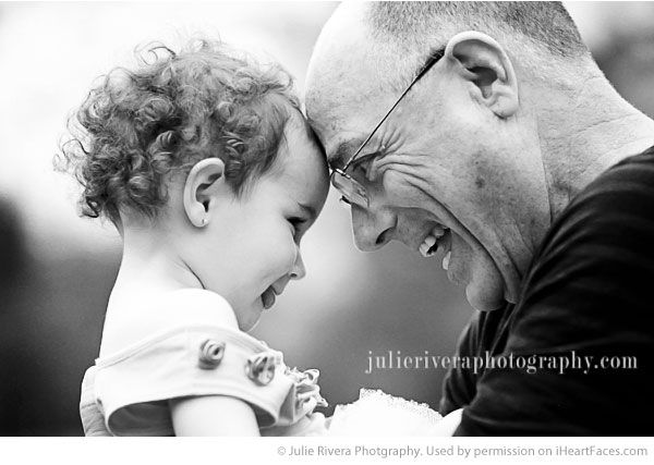 Grandparents Photography Ideas via iHeartFaces.com - Portrait Photography by Julie Rivera Photography