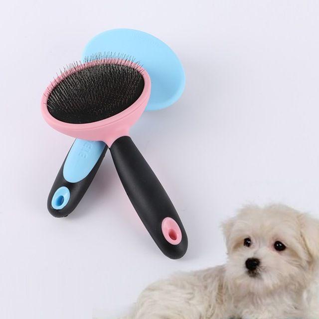 Cat Dog Pet Cabelo Fur Derramamento Grooming Trimmer Pente Escova Rake Slicker