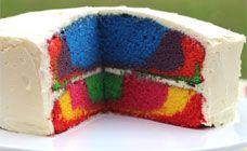 Rainbow marble or layer cake recipe | Holidays