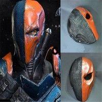 Geek | Hot Deathstroke Mask Helmet Batman Arkham Origins Deathstroke Mask Helmet Cosplay Prop for Halloween Cosplay (Size: One Size)