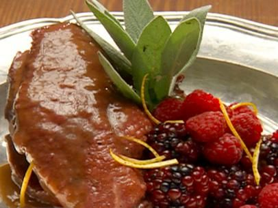 Duck Breast with Berry Sauce Recipe | Robert Irvine | Food Network