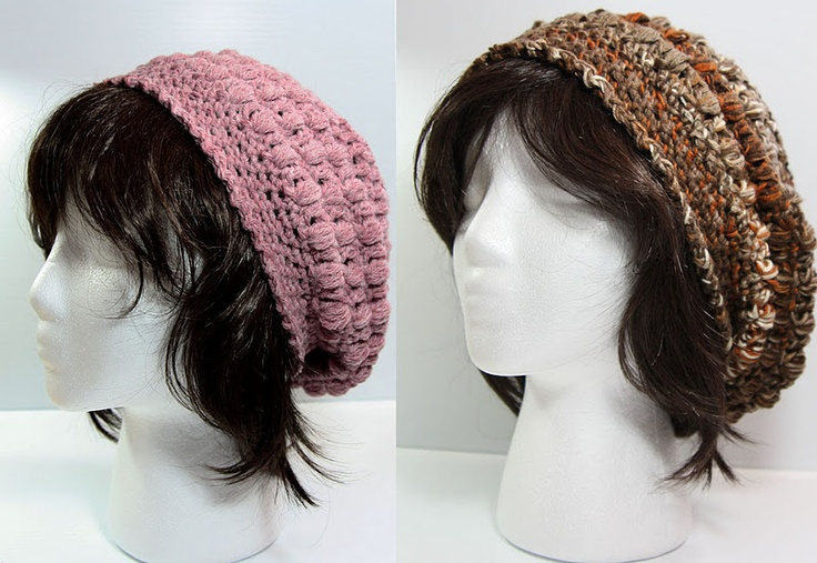 Crochet Hair Puff : Looking for a quick stylish #hat #pattern for someone with big hair