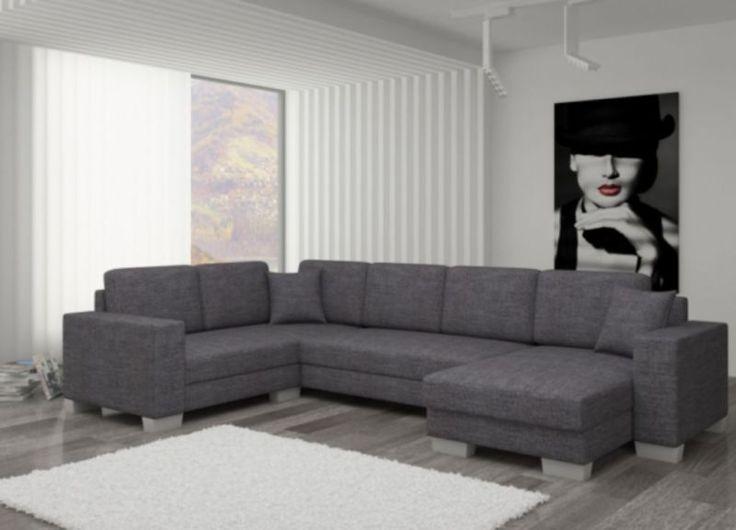 top moderne sofa couch landschaft mit schlaffunktion und. Black Bedroom Furniture Sets. Home Design Ideas