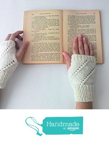 Hand Knit Fingerless Gloves in Ivory - Arm Warmers - Womens Seamless Knit Gloves - Winter Fashion - Made to Order from NaryaBoutique https://www.amazon.com/dp/B01LVW2ECU/ref=hnd_sw_r_pi_dp_2vvaybFQFCNCC #handmadeatamazon