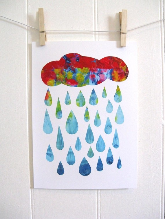 Rain - Cute way to tie in and talk about the water cycle.