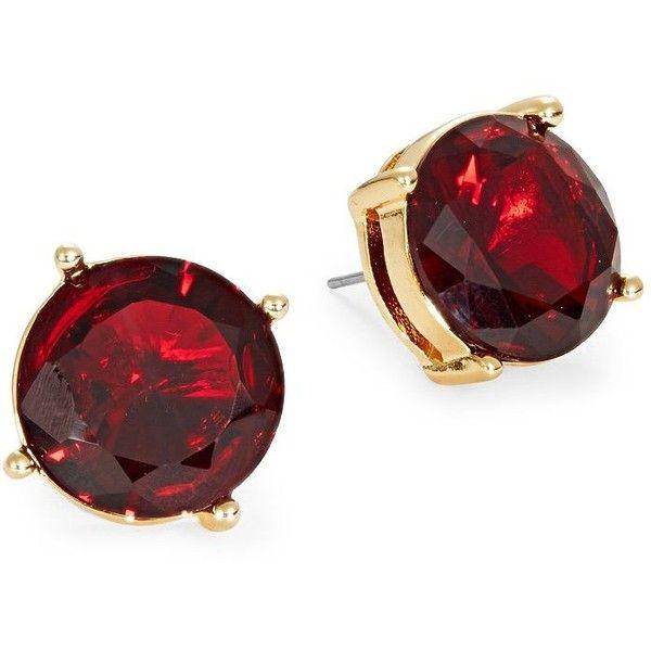 Lauren Ralph Lauren Garnet Crystal Earrings (1,470 PHP) ❤ liked on Polyvore featuring jewelry, earrings, red, red crystal earrings, crystal jewellery, lauren ralph lauren, garnet jewellery and crystal stone jewelry