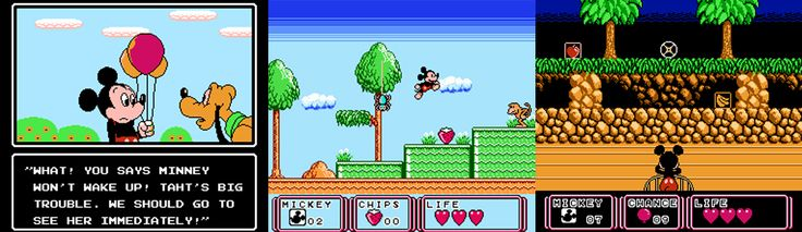 Mickey Mouse III: Balloon Dreams_ A 1992 action video game released by Kemco for the Nintendo Famicom in Japan. Mickey Mouse is working part-time selling balloons in order to buy a present for Minnie, whose birthday is a few days away. He gets news from Pluto that Minnie cannot wake up. He sets off to visit her, only to find that she has been trapped in a nightmare. Now, Mickey must journey into Minnie's mind in order to free her from the nightmare. ♥