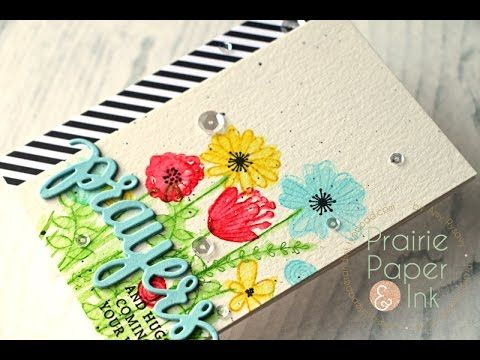 Prairie Paper & Ink: SSS Wild Beauty | Distress Ink Stamping | Color Throwdown Challenge #432