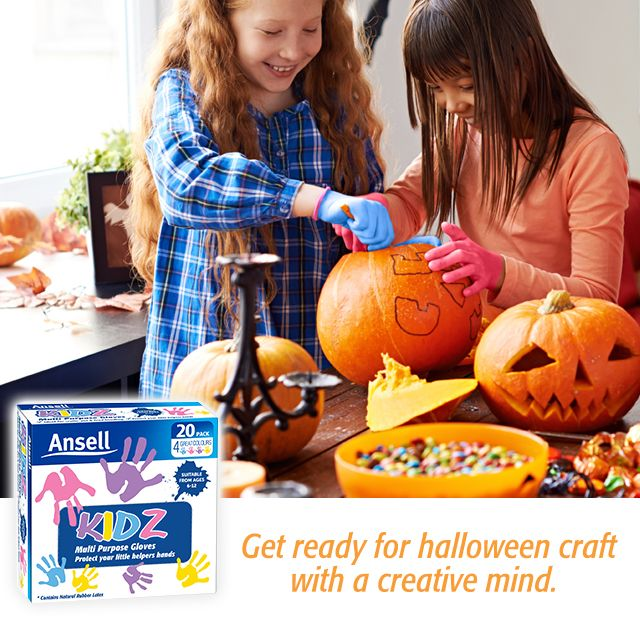Children love to help out and get in the Halloween spirit, but did you know many can experience the itchy, red or peeling symptoms of contact dermatitis from handling pumpkin flesh? Keep their hands protected from irritation with some KIDZ gloves. The fun and hygienic way to protect your little helpers hands.