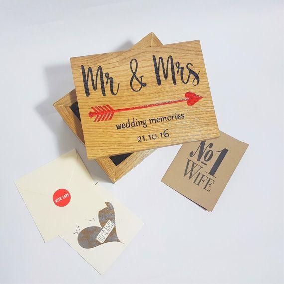 Engraved Keepsake Box For Wedding Cards