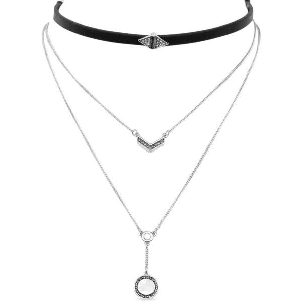 Jessica Simpson Silver Silver-Tone California Coast Metal Layered... ($22) ❤ liked on Polyvore featuring jewelry, necklaces, chokers, silver, layered choker necklace, silver choker necklace, silver coin necklace, coin necklace and metal choker necklace