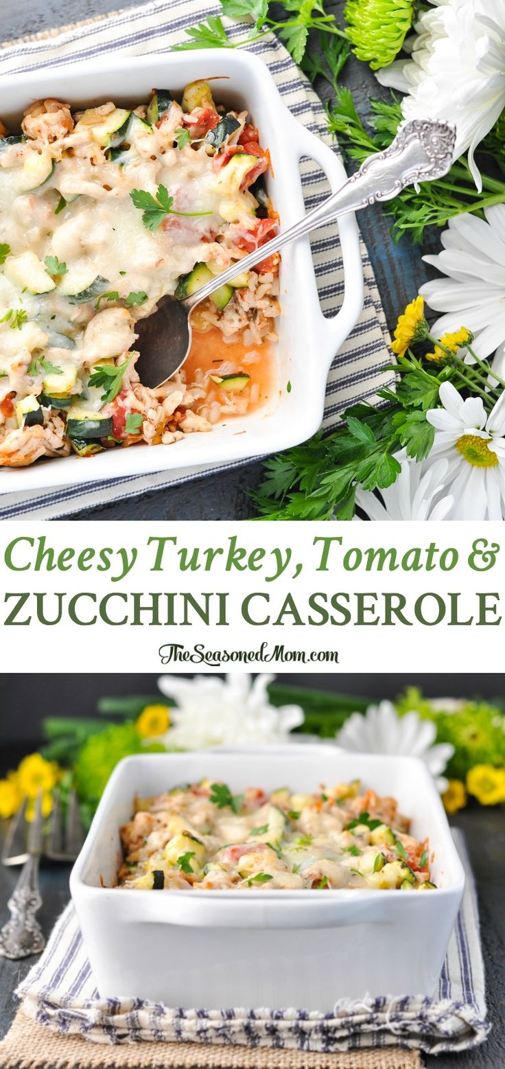 Cheesy Turkey, Tomato and Zucchini Casserole | Healthy Dinner Recipes | Dinner Ideas | Zucchini Recipes | Healthy Recipes Easy | Clean Eating Recipes | Gluten Free Recipes | Gluten Free Dinners | Gluten Free Dinner Ideas | Low Calorie Recipes | Low Calorie Dinner | Real Food | Whole Foods