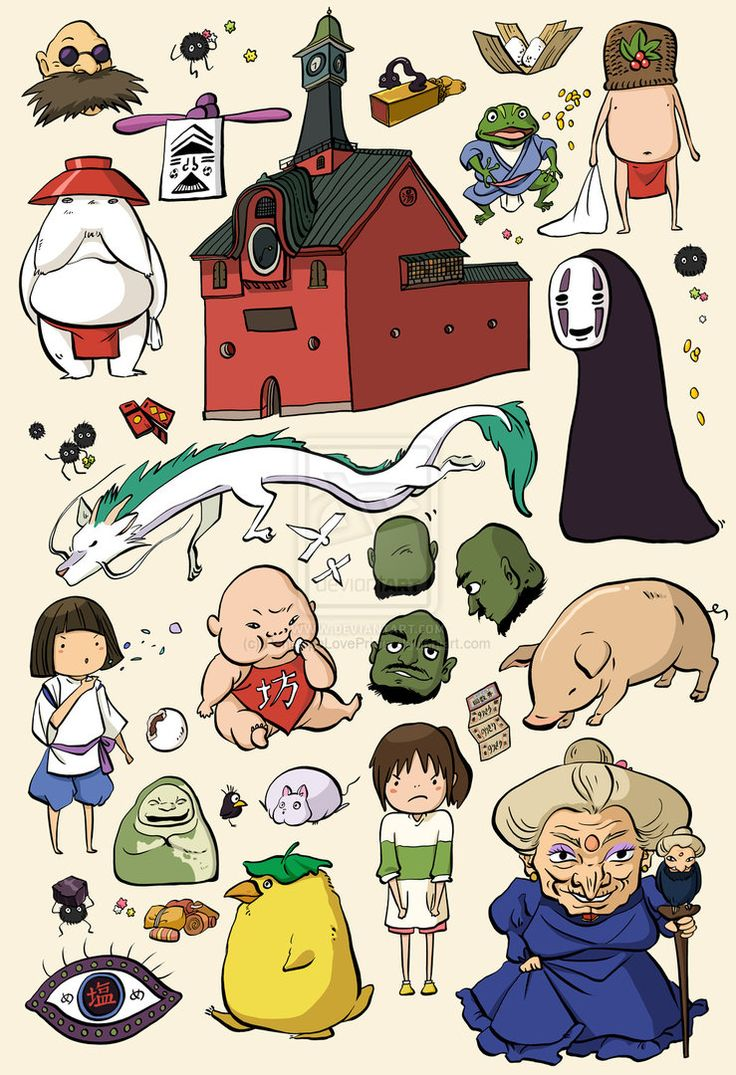 Spirited Away Studio Ghibli Character Doodles by PenelopeLovePrints on DeviantArt