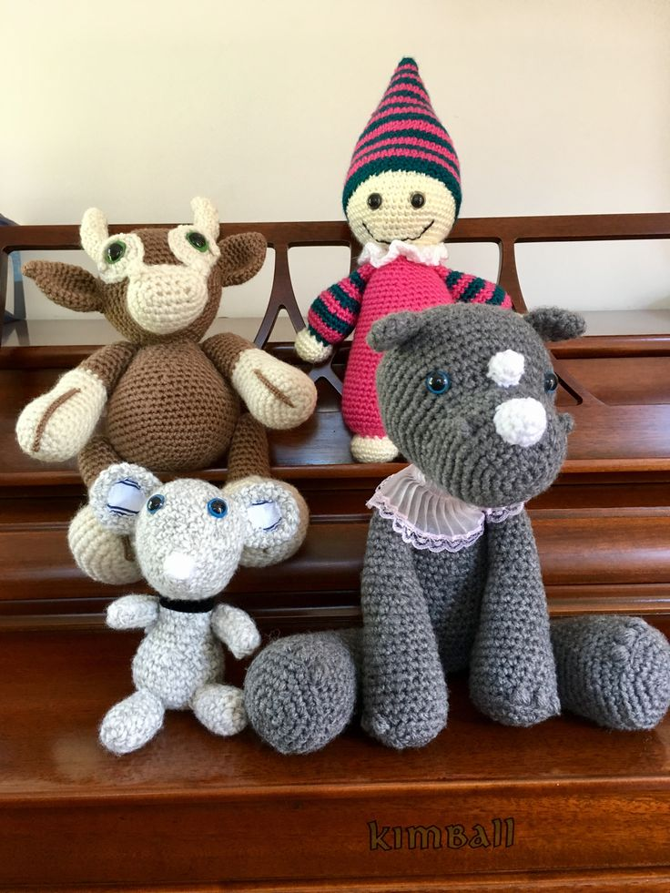 Cow, Hippo, Mouse and Doll