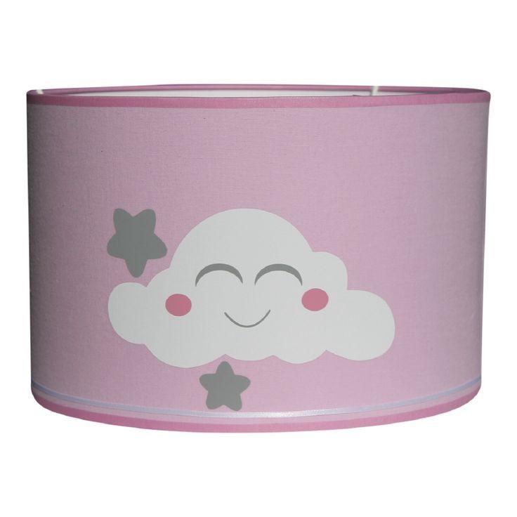 Lieve wolkjeslamp in roze kinderkamer babykamer meisje lamp hanglamp wolkjes wolken romantisch zoet meisjeslamp