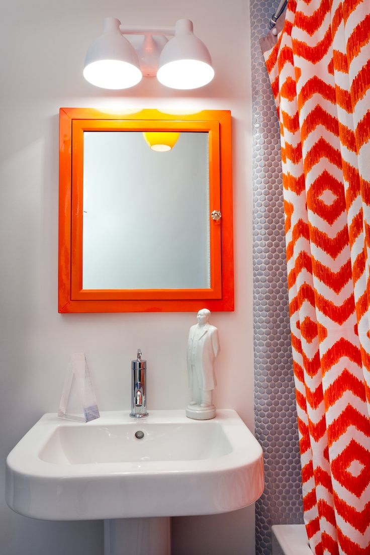 17 best images about orange and blue interiors on for Blue and orange bathroom